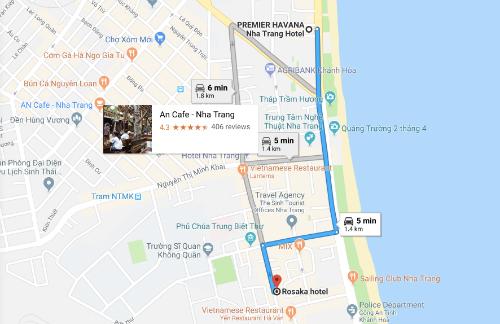 Quãng đường di chuyển của khách Hàn Quốc chừng 1,5 km. Ảnh: Google Maps.