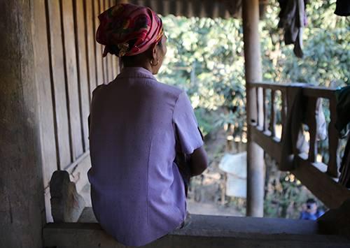 Lương Thị Mùi - người phụ nữ một năm trước đã qua Trung Quốc bán con. Ảnh: Nguyễn Hải.