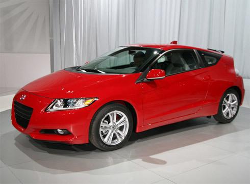 Honda CR-Z tỏa sáng với màu đỏ sang trọng tại triển lãm Detroit.