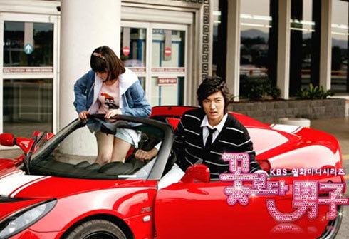 Goo Jun Pyo và Goo Hye Sun trên chiếc Lotus Elise S