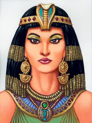 Một bức chân dung nữ hoàng Cleopatra. Ảnh: vnweblogs.com.