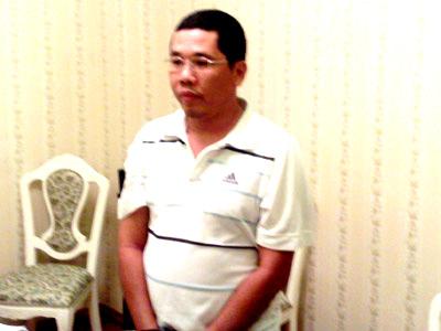 Nhà báo Phan Hà Bình khi bị bắt. Ảnh: CTV