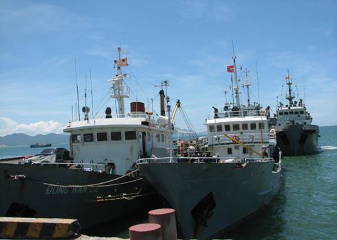 3 tàu bảo vệ Bình Minh 02 sau vụ bị tàu hải giám Trung Quốc được tăng cường thêm 5 chiếc nữa.