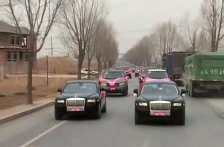 Đoàn xe rước dâu Land Rover.
