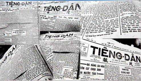 """Một trong những bài báo đầu tiên của Võ Nguyên Giáp dưới bút danh Hải Thanh có tên """"Vũ trụ và tấn hóa"""" in trên báo """"Tiếng dân"""" năm 1929 do cụ Huỳnh Thúc Kháng làm chủ bút."""