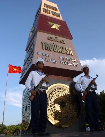 Hải quân nhân dân Việt Nam trên đảo Trường Sa Lớn, quần đảo Trường Sa. Ảnh: Thanh Hưng