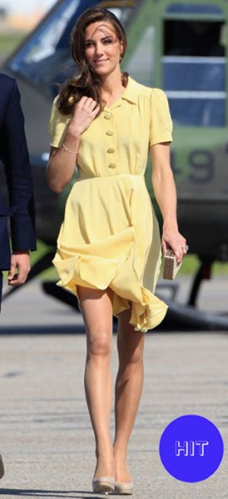 Pastel yellow isn't a colour we've seen Kate in before, but it's definitely one we encourage her to experiment with further.