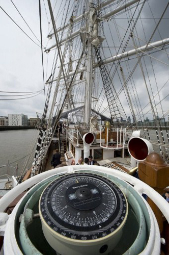 A 19th century French ship known as 'The Belem' is pictured on the River Thames in London, on May 31, 2012, as it prepares to take part in Queen Elizabeth II's Diamond Jubilee River Pageant. The Belem, a three masted barque, is the last 19th century French trading ship still under sail
