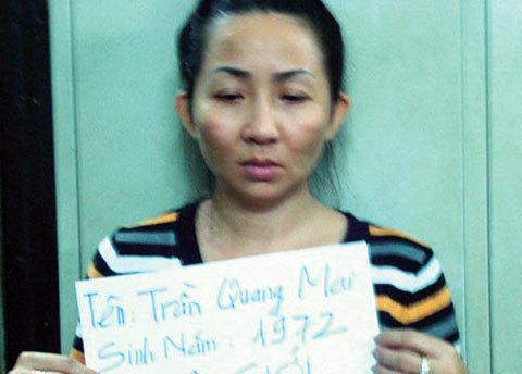Trần Quang Mai tại cơ quan điều tra, Ảnh: cơ quan điều tra.