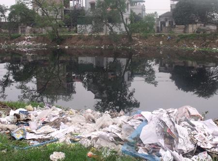 Cuộc sống con người đang bị đe dọa bởi sự ô nhiễm nguồn nước. Ảnh do tác giả cung cấp.