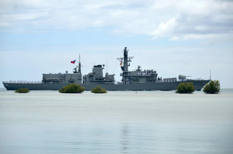 The Chilean Navy frigate Almirante Lynch (FF 07) pulls into Joint Base Pearl Harbor-Hickam in support of Rim of the Pacific (RIMPAC) 2012 exercise.