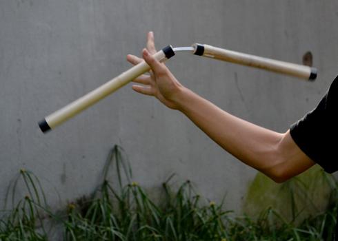 Côn nhị khúc là một loại vũ khí được cho là xuất phát từ môn võ Karate từ đảo Okinawa của Nhật Bản. Người sử dụng loại vũ khí này nổi tiếng nhất là Lý Tiểu Long.