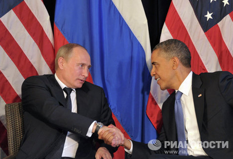 On June 18, on the sidelines of the G20 summit in Los Cabos, Putin held his first meeting as the new Russian president with U.S. President Barack Obama.