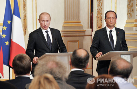 Also on June 1, Vladimir Putin arrived in Paris on a working visit, where he held talks with French President Francois Hollande.