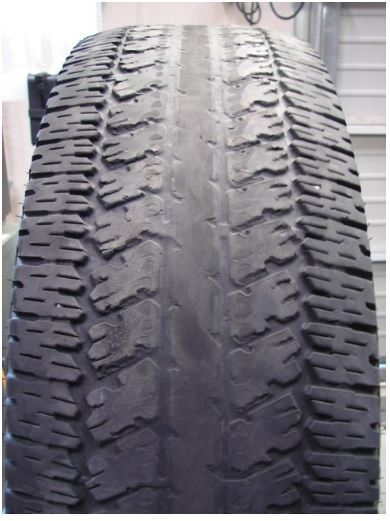 Các kiểu mòn trên xe sử dụng lốp Bridgestone.