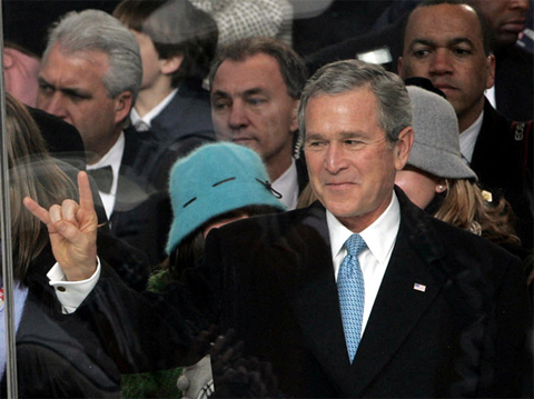"2005: What's so odd about President Bush giving the ""Hook 'em, 'horns"" salute of the University of Texas Longhorns during his inaugural parade? Nothing, unless you were in Norway, where people thought his gesture was a salute to Satan."
