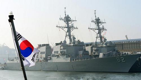 n this photo taken Saturday, March 9, 2013, the guided-missile destroyers USS Lassen (DDG 82), left, and USS Fitzgerald (DDG-62) arrive to participate in the annual joint military exercises, dubbed Key Resolve, between South Korea and the United States, at a naval port in Donghae, South Korea. South Korea and the U.S. on Monday will kick off the annual military drill amid worries about possible bloodshed following North Koreas threat to scrap a decades-old war armistice and launch a nuclear attack on the U.S. -- FILE PHOTO: AP