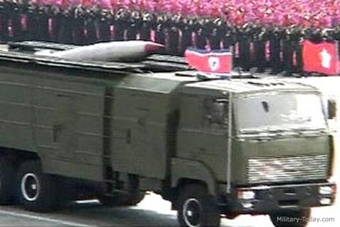 Tên lửa KN-02 của Triều Tiên xuất hiện trong một buổi duyệt binh. Ảnh: Militarytoday