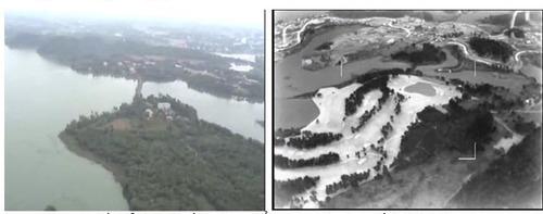 Hình ảnh trinh sát quang  hồng ngoại thu được từ VT Patrol. (Nguồn: Viettel)