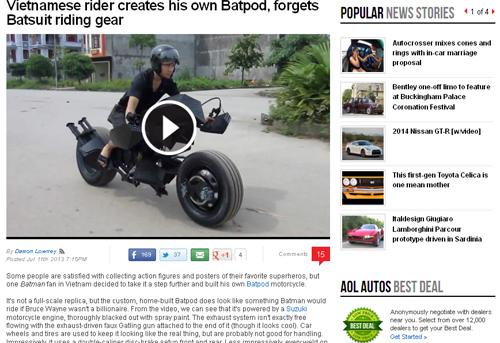 siêu môtô batman của chàng trai việt lên báo nước ngoài - 2