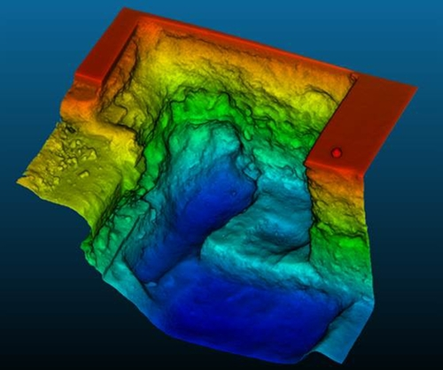 Ảnh 1 : Bản đồ khu mộ được tạo bằng công nghệ quét laser. (Ảnh : University of Leicester)