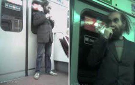 """Những bức ảnh hiếm hoi chụp """"kẻ lập dị"""" G. Perelman& lang thang trên phương tiện giao thông công cộng."""
