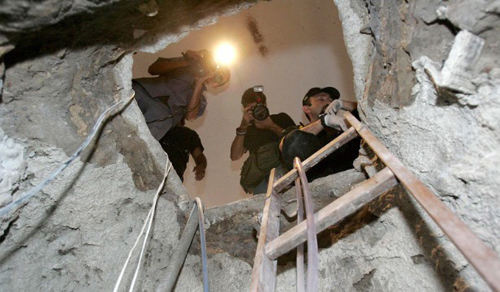 A gang of robbers posing as a landscape company dug a tunnel underneath Banco Central in Fortaleza, Brazil. On a Saturday in August 2005, they broke through concrete and steel into a vault and stole $69.8 million (164,755,150 Brazilian reais). A few involved have been caught, but it remains an open case.