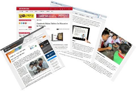 Sách giáo khoa điện tử Việt Nam lên báo nước ngoài
