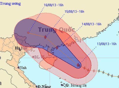 Bão Utor gây mưa lớn ở bốn tỉnh đông bắc