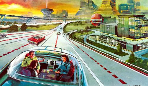 Minh họa ô tô tự lái xe    Ảnh: foreignpolicy