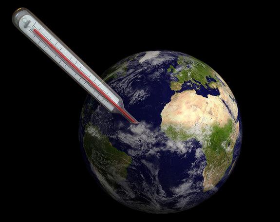 Minh họa: Nhiệt kế đo nhiệt độ trái đất    Ảnh:  Eduard Harkonen/Shutterstock
