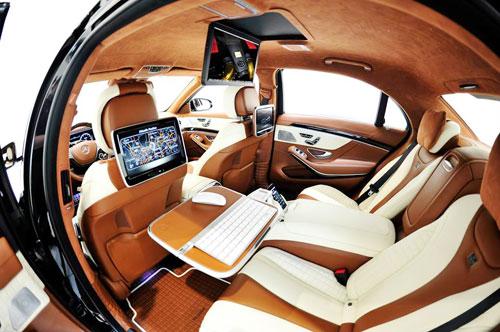 Mercedes S63 AMG độ nội thất hạng thương gia