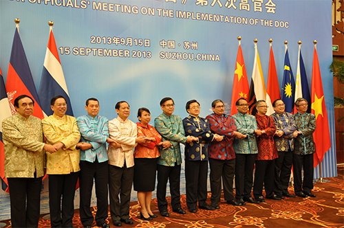 Các đại biểu tham gia cuộc họp quan chức cao cấp ASEAN  Trung Quốc về triển khai DOC lần thứ 6
