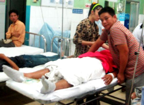 CSGTĐoàn Thanh Phúđược cấp cứu ở Bệnh viện Đa khoa Đồng Nai tối 22-9