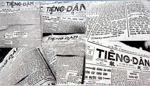 """Một trong những bài báo đầu tiên của Võ Nguyên Giáp dưới bút danh Hải Thanh có tên """"Vũ trụ và tấn hóa"""" in trên báo Tiếng dân năm 1929 do cụ Huỳnh Thúc Kháng làm chủ bút."""