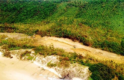 Khu vực an táng chụp từ máy bay trực thăng.