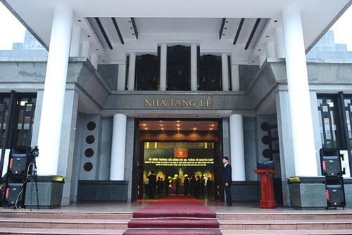 Tổng bí thư Nguyễn Phú Trọng đọc lời điếu dành cho Đại tướng Võ Nguyên Giáp.