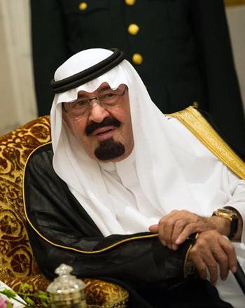 [Caption]Quốc vương Saudi Arabia, Abdullah bin Abdul Aziz al Saud, 88 tuổi. Ông nắm trong tay 20% trữ lượng dầu đã được thống kê trên thế giới và đứng đầu những thành phố linh thiêng nhất của thế giới Hồi giáo.