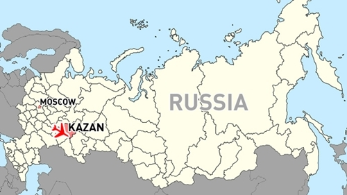 Chuyến bay gặp nạn xuất phát từ Moscow và điểm đến là thành phố Kazan. Đồ họa: RT