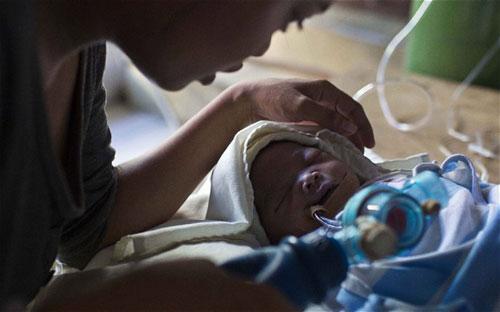 Althea Mustacisa qua đời sau 3 ngày lọt lòng mẹ. Ảnh: AP