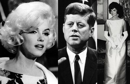 Tổng thống Kennedy từng nhiều lần dính vào các tin đồn tình ái. Trong ảnh là chân dung Đệ nhất phu nhânJacqueline Ken