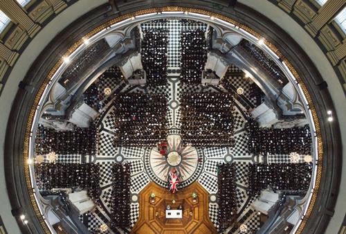 Khách mời tham dự đám tang cựu thủ tướng Margaret Thatcher ở Nhà thờ St. Paul.
