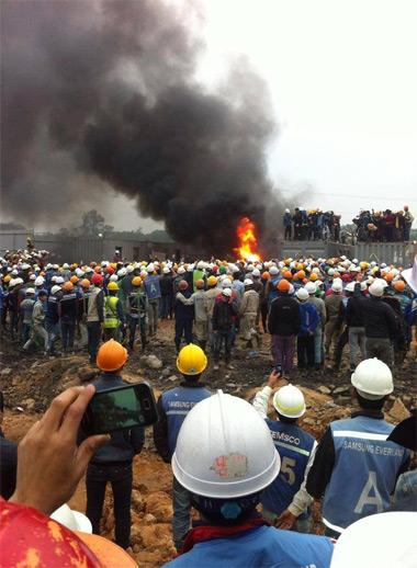 Khởi tố vụ xô xát ở nhà máy Samsung Thái Nguyên