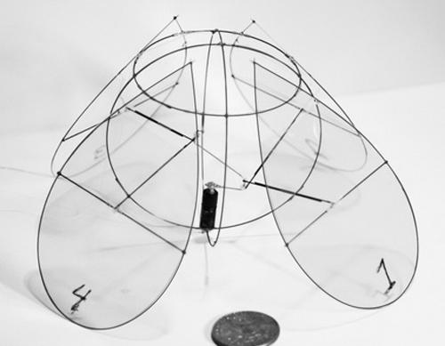 Thiết bị bay chuyển động như sứa bơi. Ảnh: New York University