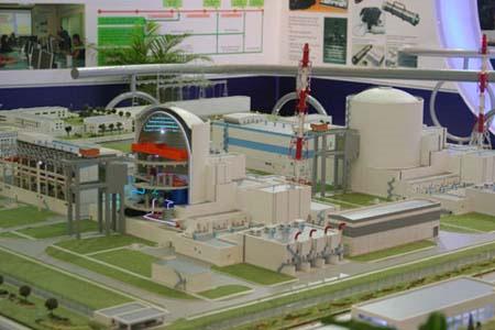 Mô hình nhà máy điện hạt nhân Ninh Thuận 1. Ảnh: T.Dũng.