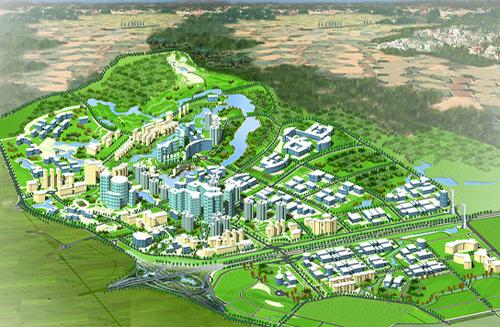 Mô hình khu Công nghệ cao Hòa Lạc. Ảnh: HHTP.