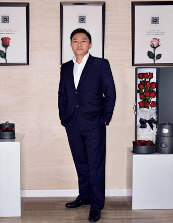 Pu Yi, người sáng lập kiêm CEO của Roseonly. Ảnh: China Daily
