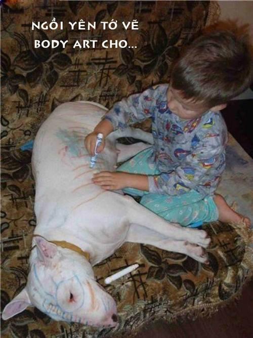 Khổ thân con chó.