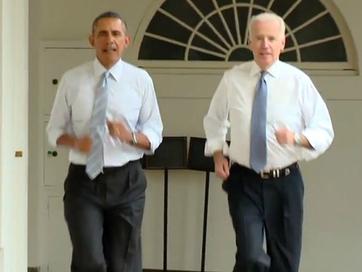 Tổng thống Mỹ chạy thể dục quanh Nhà Trắng
