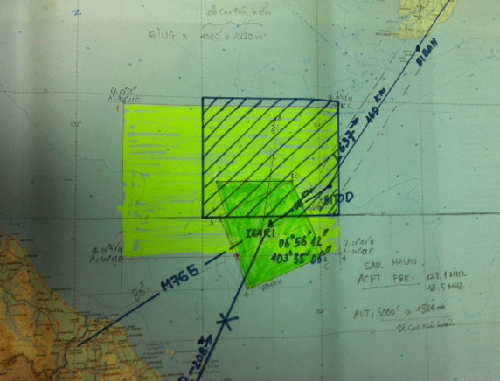 Phát hiện vết nghi dầu loang ở vùng máy bay Malaysia có thể rơi
